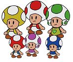 Toads (Paper Mario-Style, Modern)