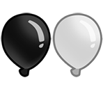 Black and White Bloons