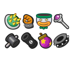 Bowser Items & Badges