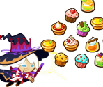 Cream Puff Cookie (Dark Magic Hat)