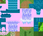 Undine's Cave (Exterior), Travel Cannon, Gaia's Navel (Exterior), Potos Falls/Paths