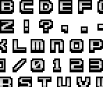 Name Entry Font