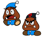 Private Goomp (Paper Mario-Style, Modern)