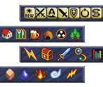 Menu and Area Icons