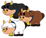 Moo Moo (Single Colors) (Paper Mario-Style)