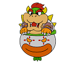 Bowser and Clown Car (Paper Mario 64) (Paper Mario-Style)