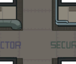 The Skeld: Reactor, Security, Engines Hallway Cross