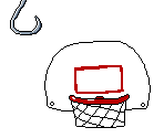 Hook and Basket Ball Goal