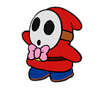 Emcee Shy Guy (Paper Mario-Style, Modern)