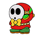Emcee Shy Guy (Paper Mario-Style, Classic)
