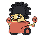 Gearmo (Pink) (Paper Mario-Style)