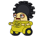 Gearmo (Yellow) (Paper Mario-Style)