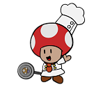 Chef Toad (Paper Mario-Style)