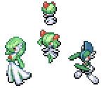 Ralts, Kirlia, Gardevoir and Gallade