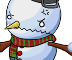 Snowman Angry