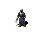 Monk in Heavy Armor with Axe
