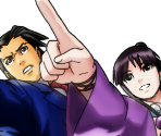 Phoenix Wright and Maya Fey