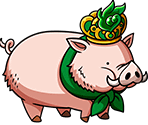 #0344 - Green Jeweled Porc