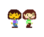 Frisk & Chara (Cave Story+-Style)