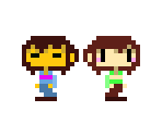 Frisk & Chara (Cave Story-Style)