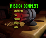 Mission Complete Screen