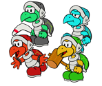 Hammer Bros. Family (Paper Mario-Style)