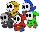 Shy Guy (Paper Mario Style)