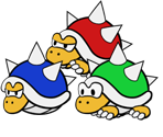 Spiny (Paper Mario-Style)