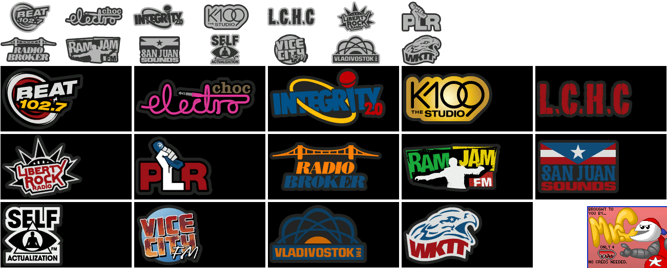 Grand Theft Auto 4: Episodes from Liberty City - Radio Station Logos
