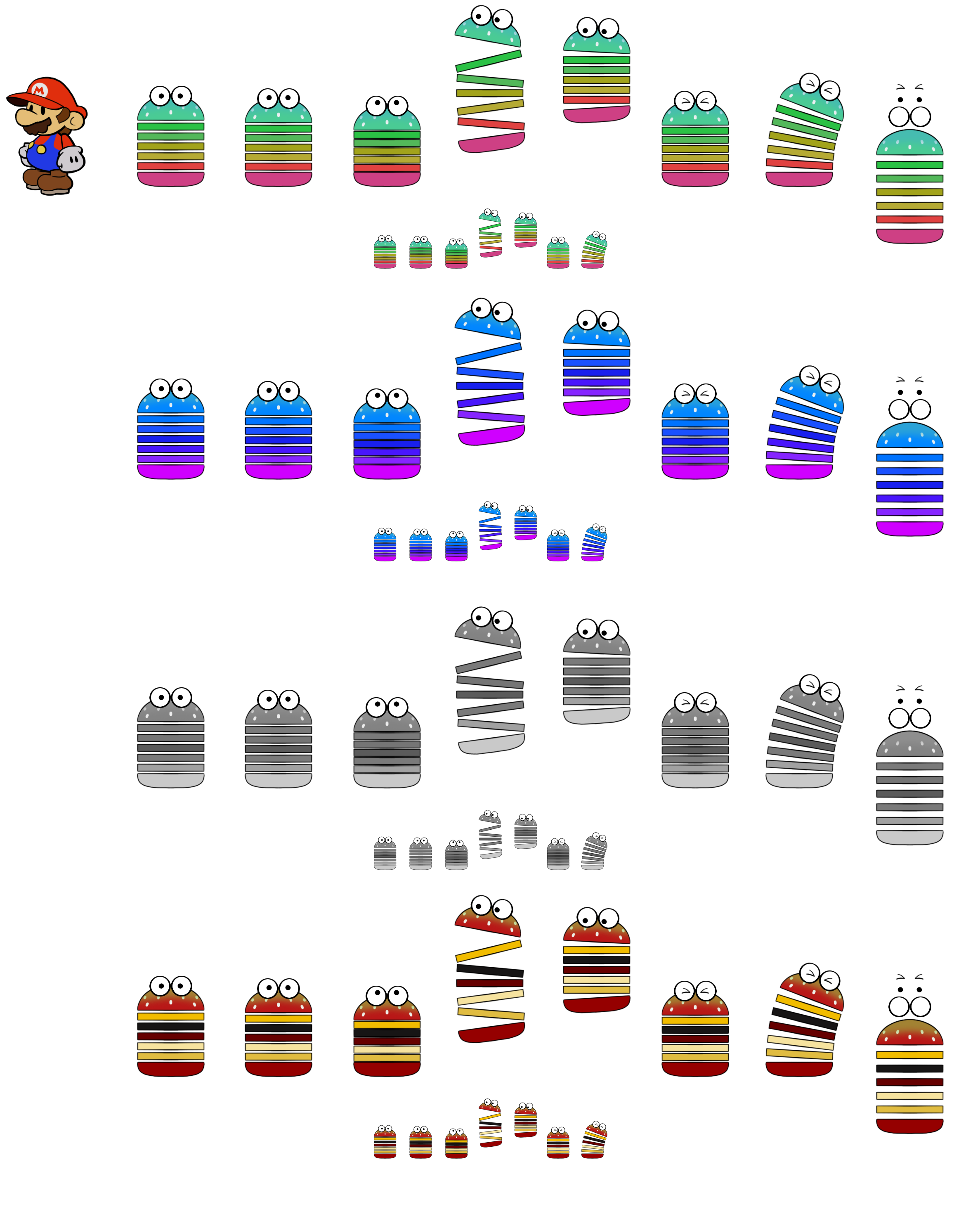 Sproing-Oing Family (Paper Mario Style)
