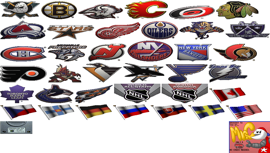 NHL Breakaway 99 - Team Logos