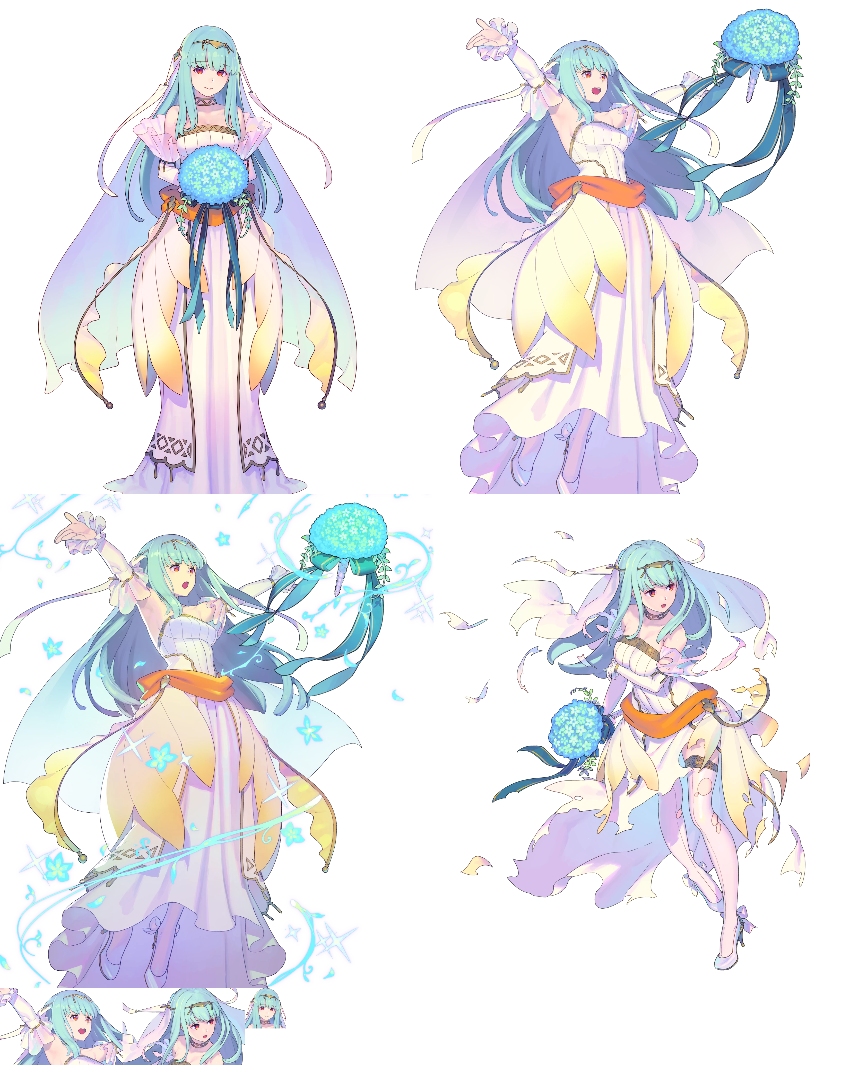 Mobile Fire Emblem Heroes Ninian Bridal Bloom The Spriters