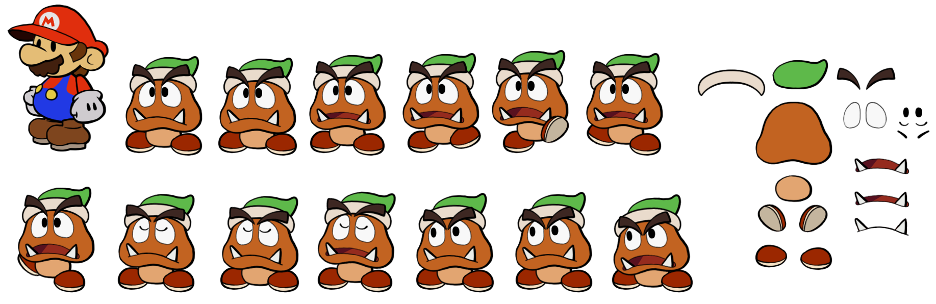 Rogueport Goombas (Paper Mario Style)