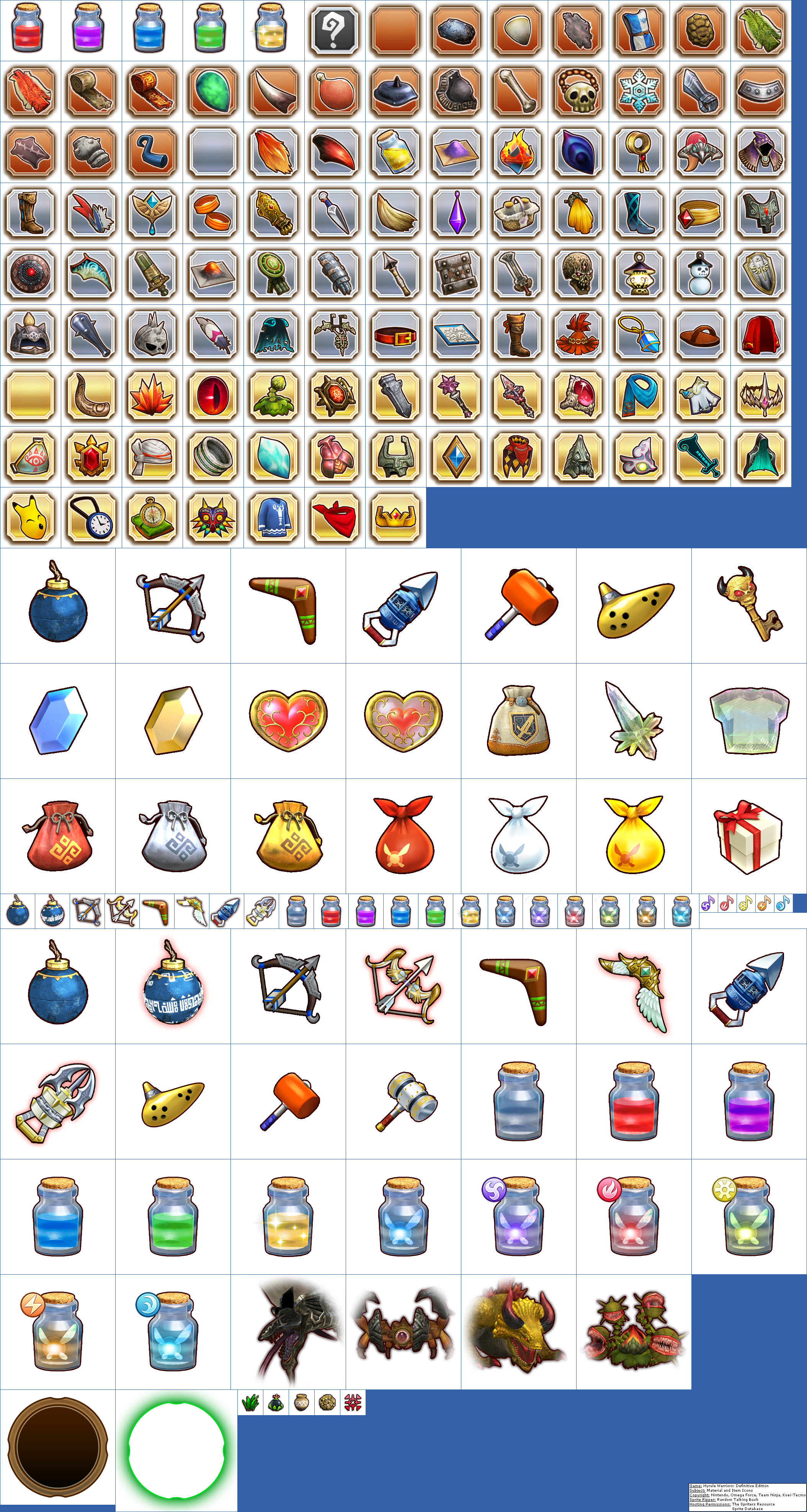 Material and Item Icons