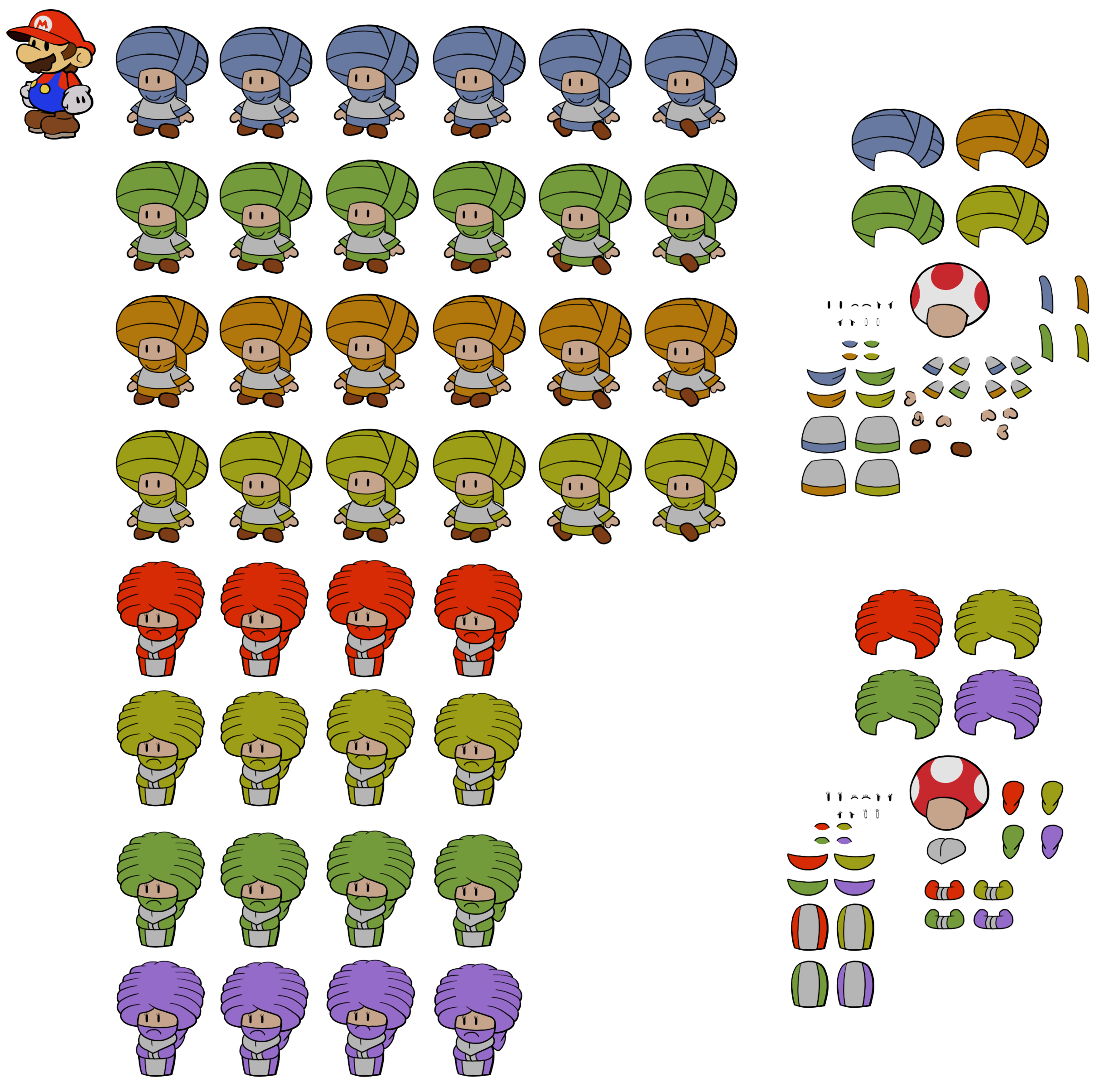Dry Dry Toads (Paper Mario Style)