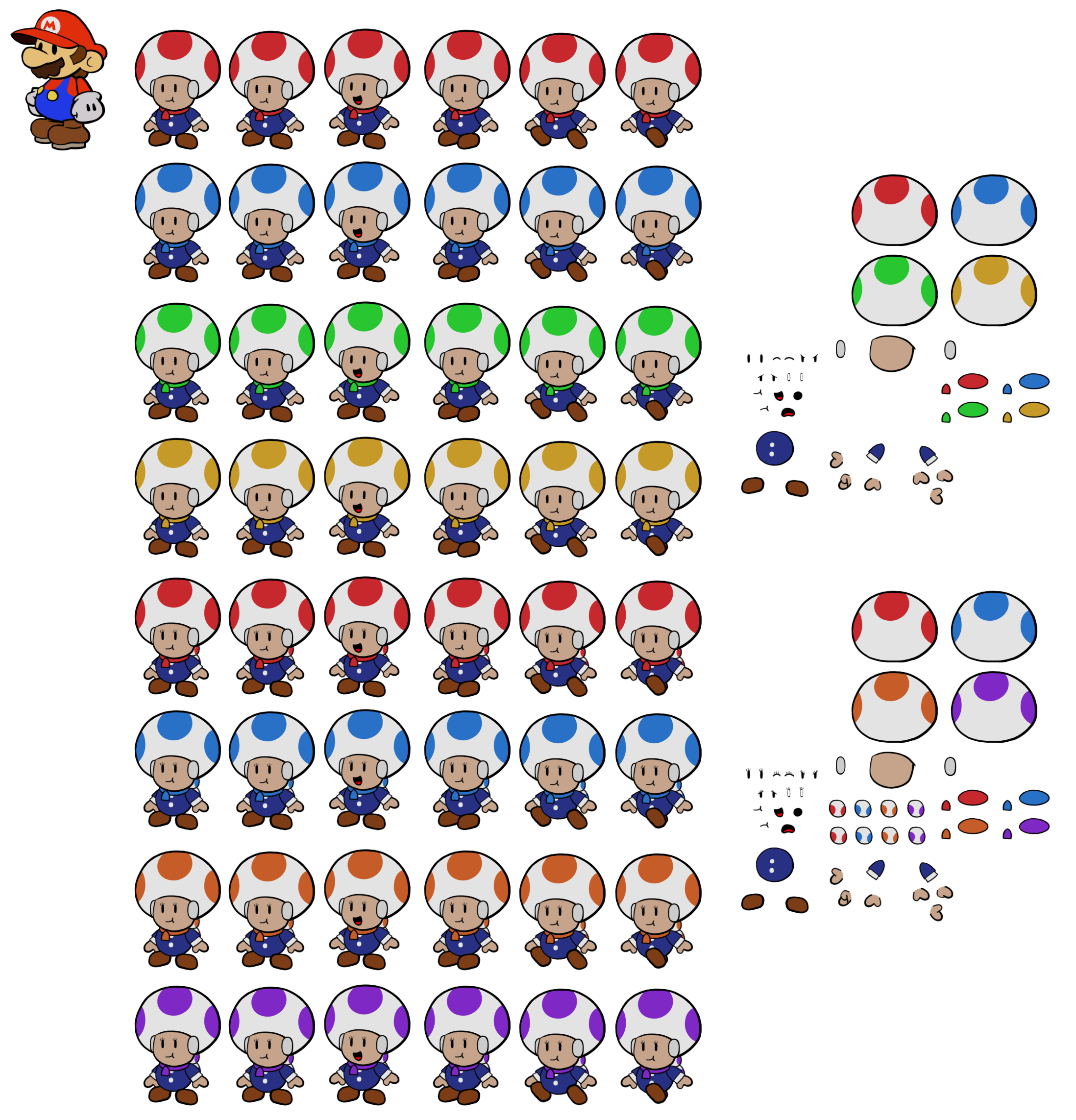 Shiver Toads (Paper Mario Style)
