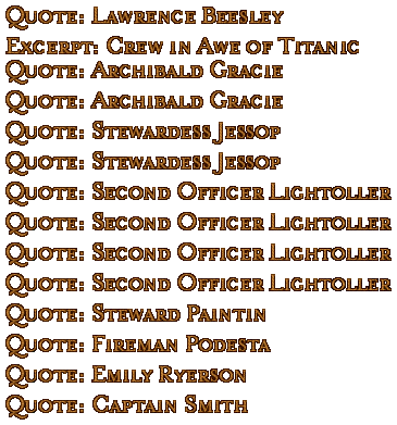 Quote Titles (CD1)