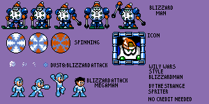 Blizzard Man (Wily Wars Style)