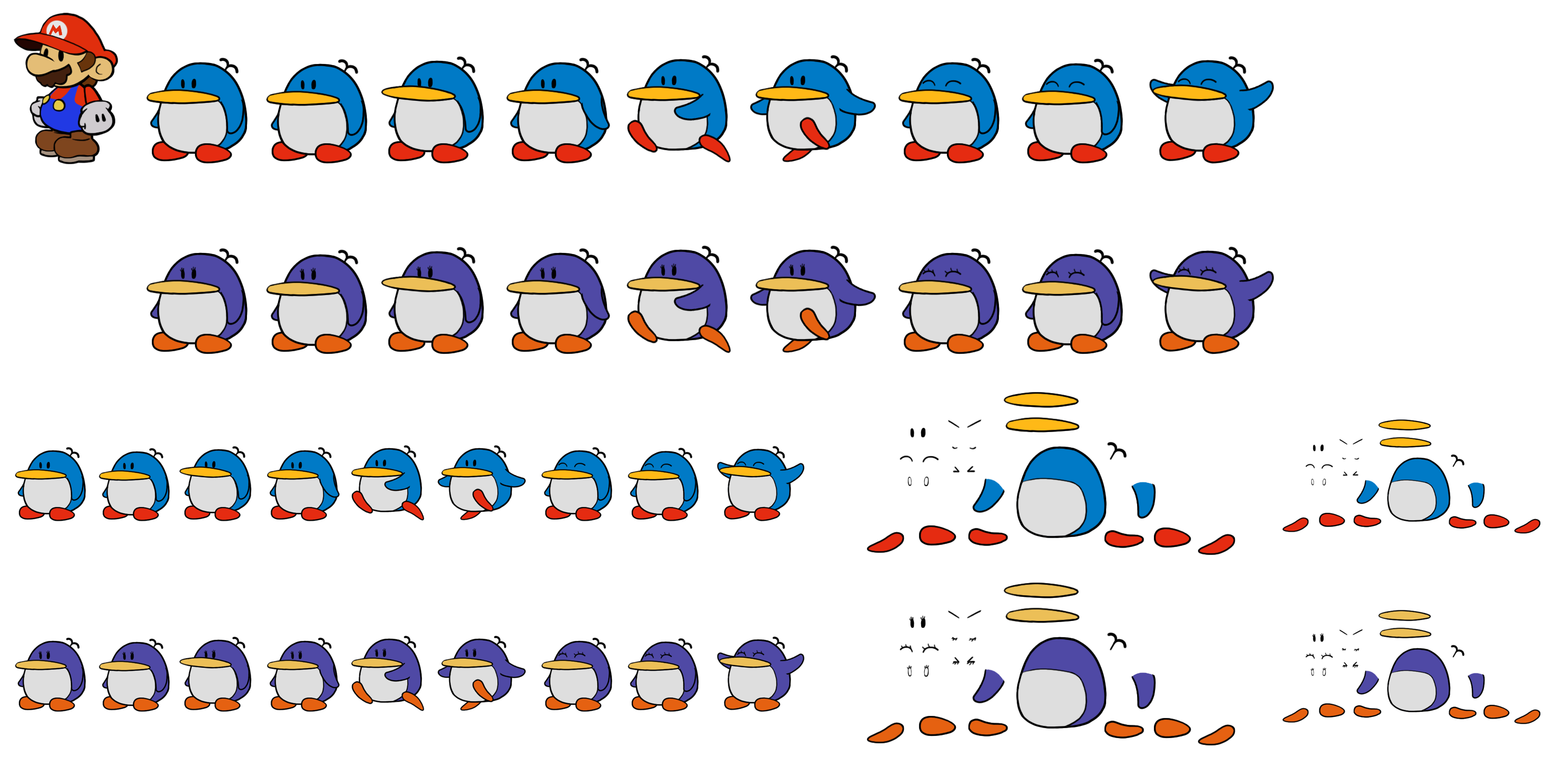 Bumpties (Paper Mario Style)