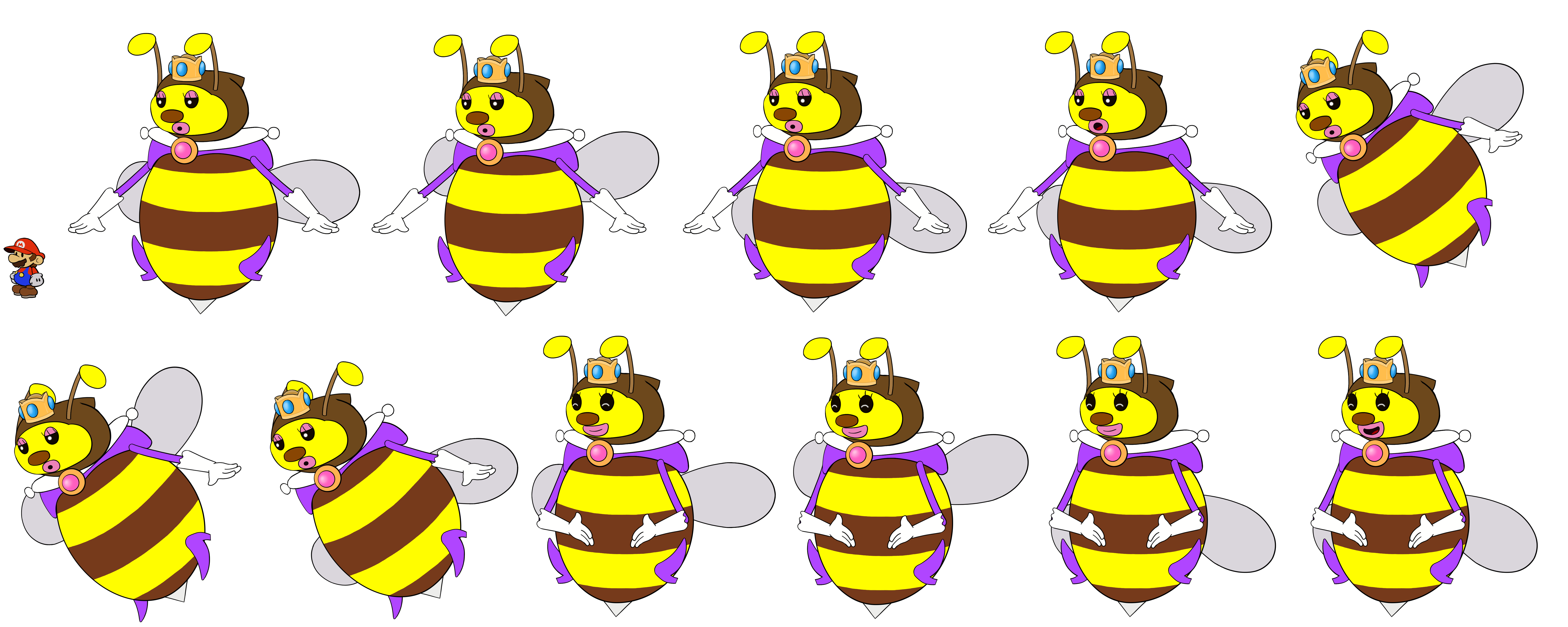 Honey Queen 1 (Paper Mario Style)