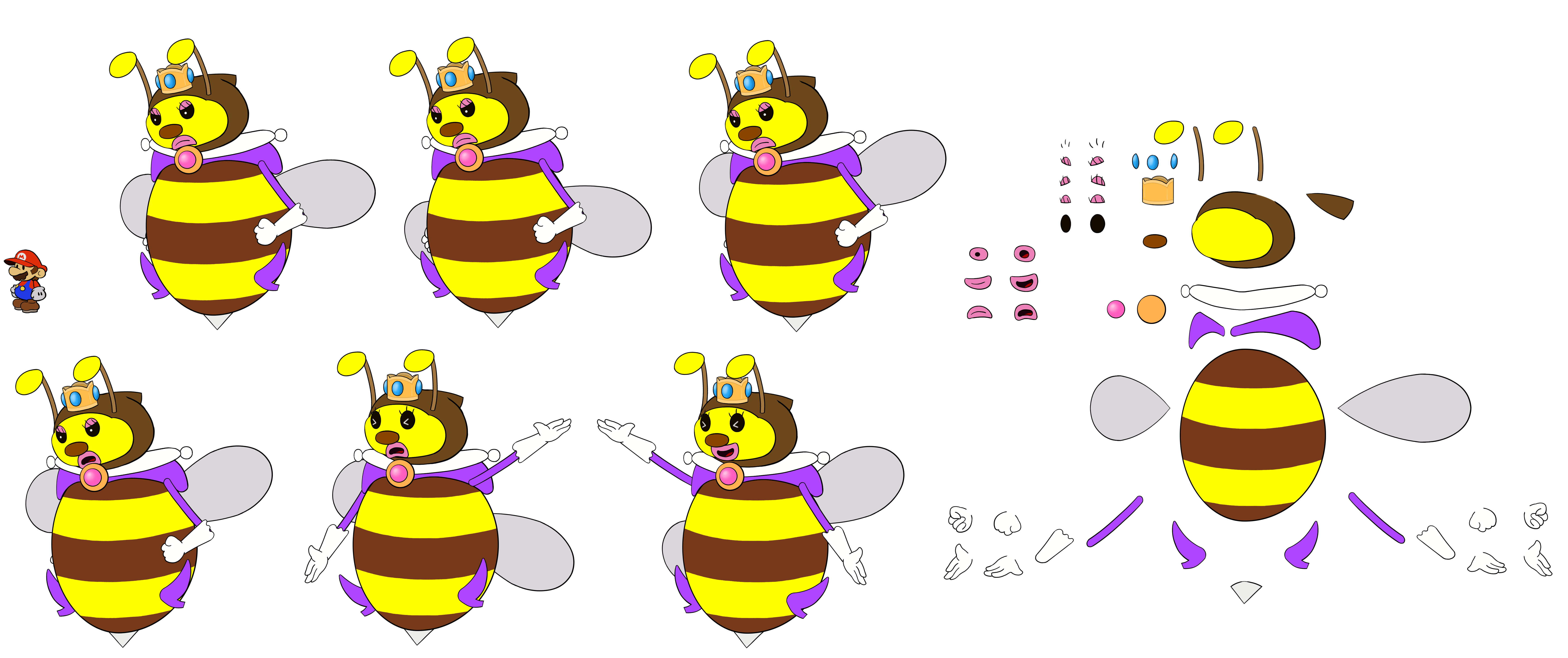 Honey Queen 2 (Paper Mario Style)