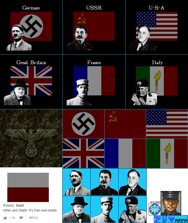 Flags, Faces, & Reichsadler