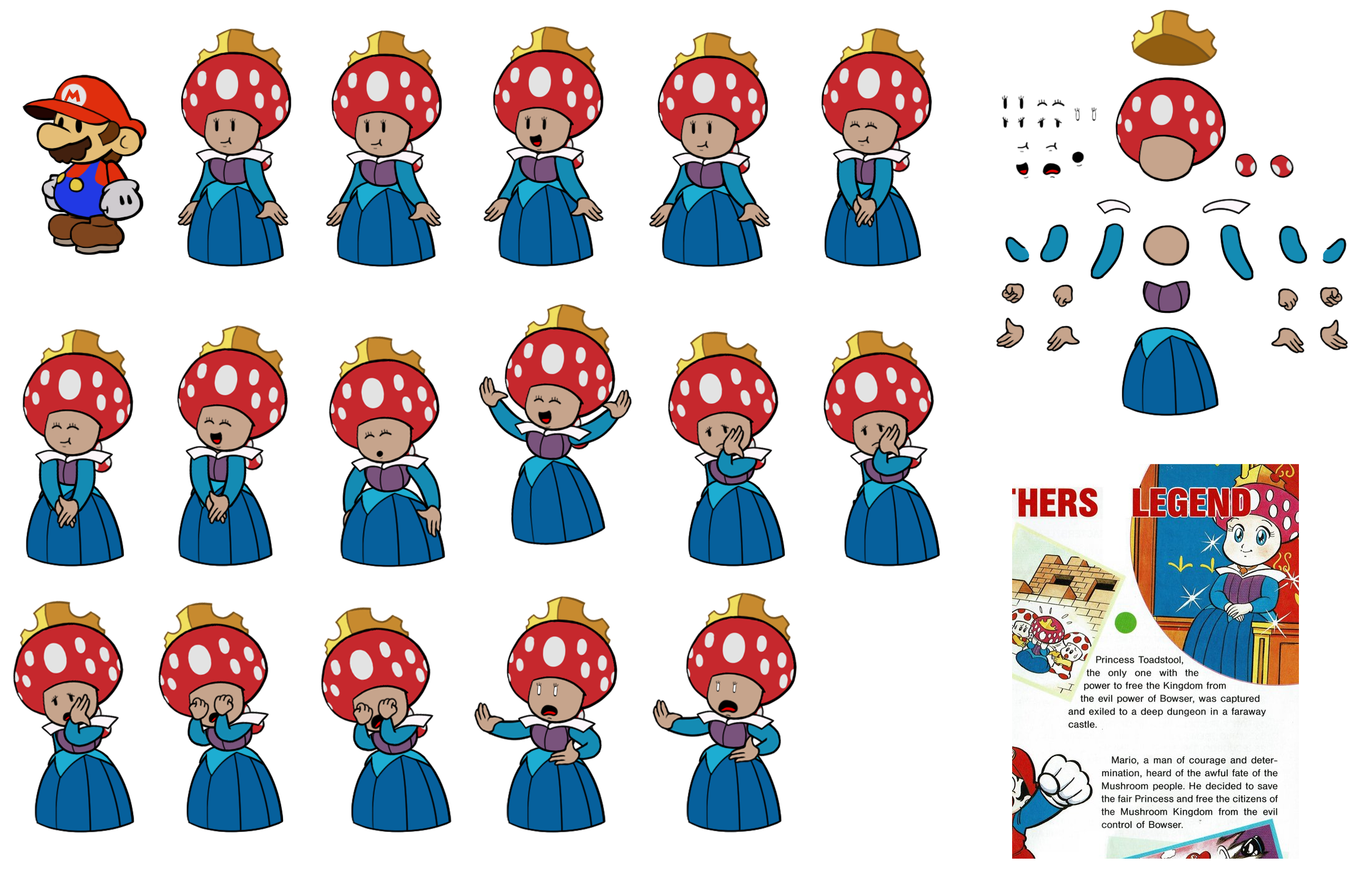 Princess Toadstool (SMB1 Guide, Paper Mario Style)