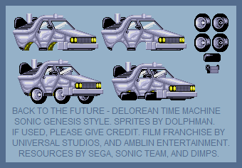 Delorean Time Machine (Sonic Genesis Style)