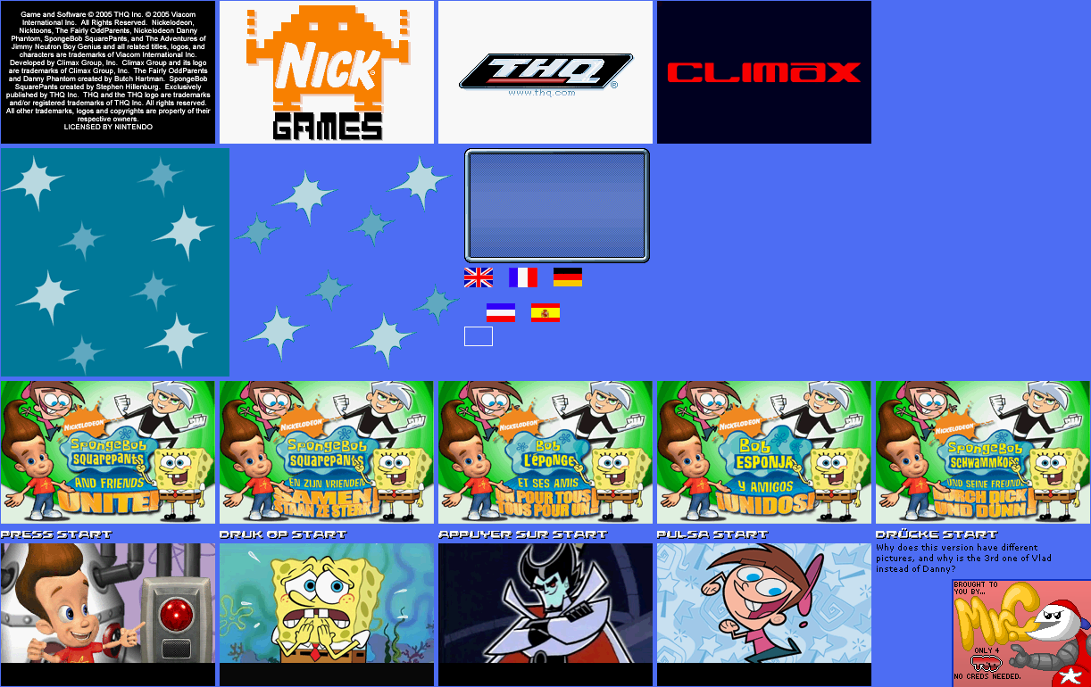 Title Screen and Logos (Europe)