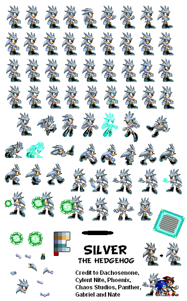 Custom Edited Sonic The Hedgehog Customs Silver The Spriters