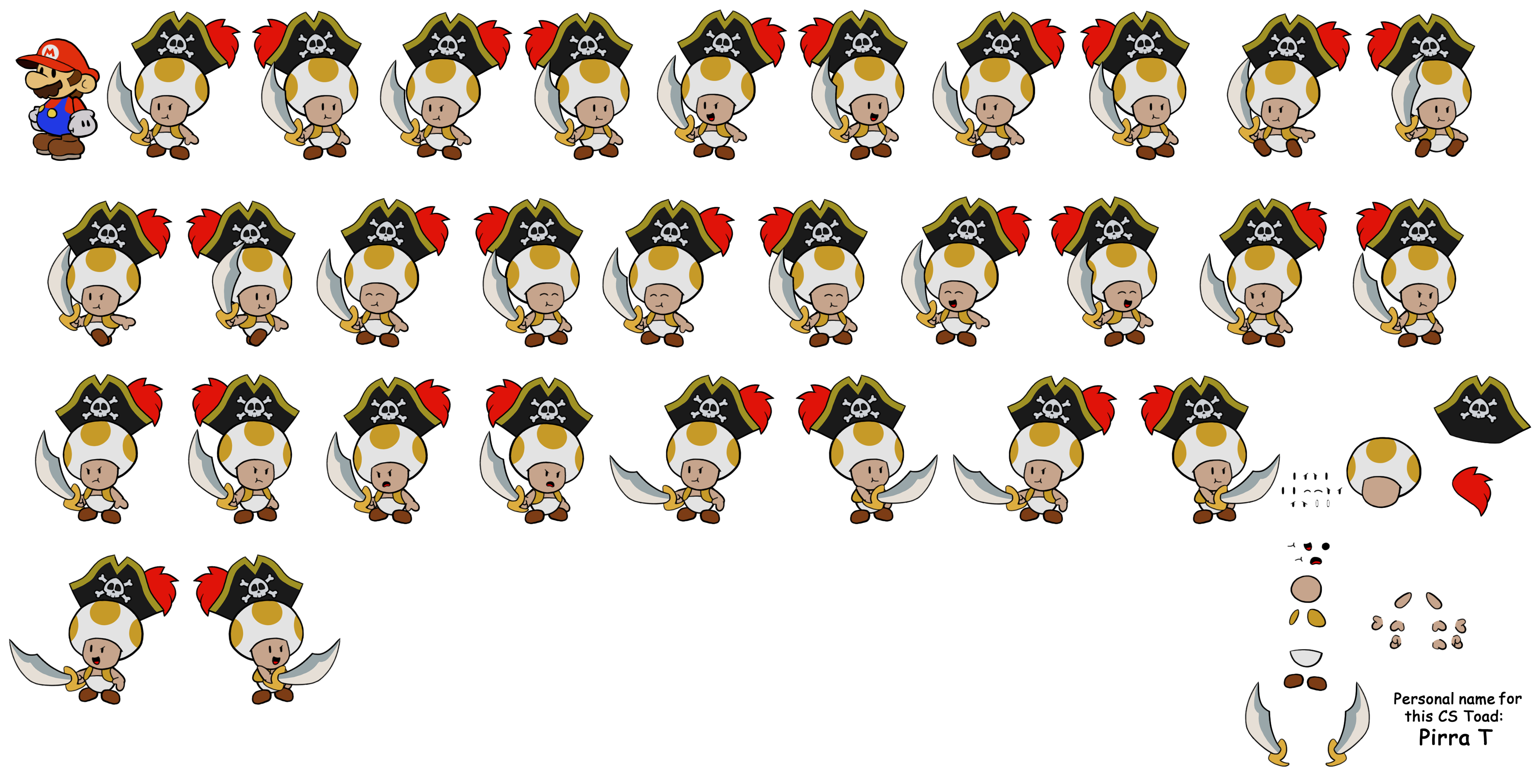 Legendary Captain (Paper Mario Style)