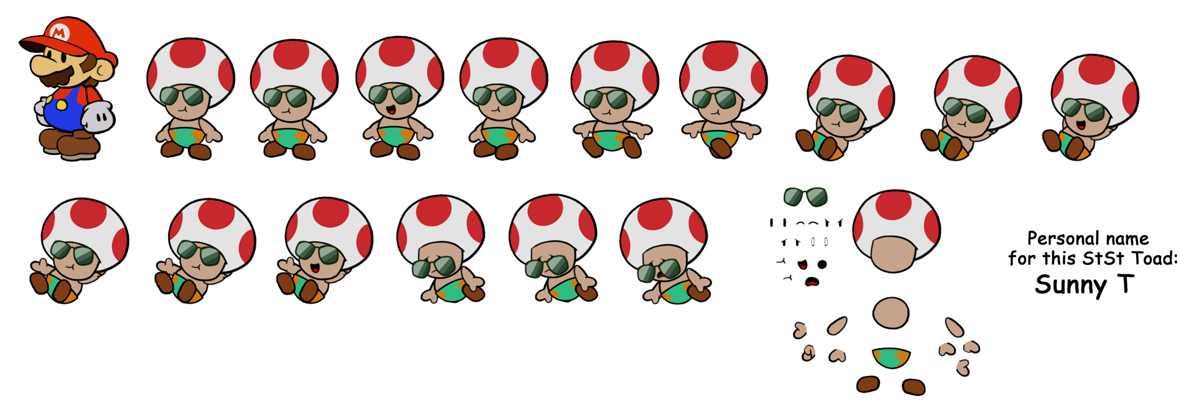 Oasis Toad (Paper Mario Style)