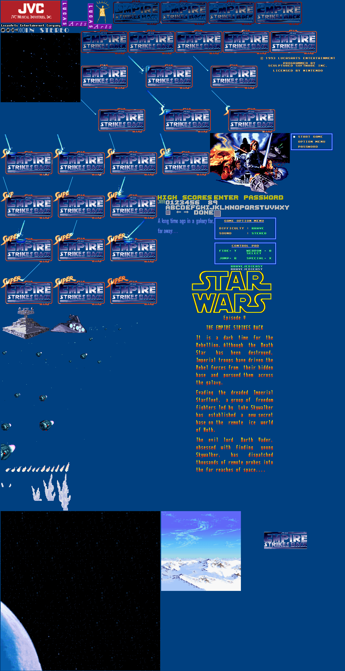 Super Star Wars 2: The Empire Strikes Back - Title Screen