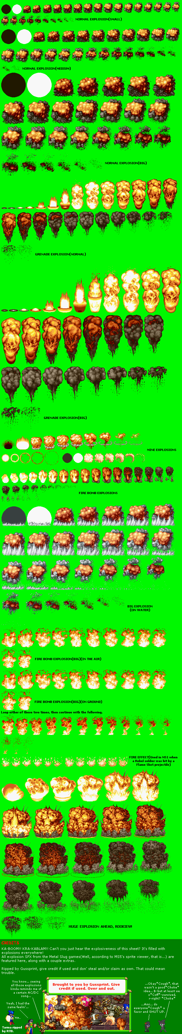 Arcade - Metal Slug - Explosion SFX - The Spriters Resource